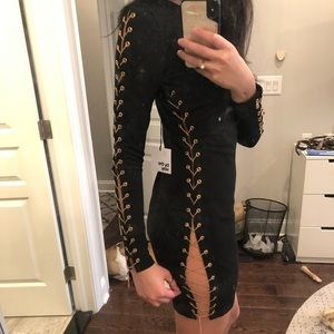 Revolve clothing long sleeve chain dress